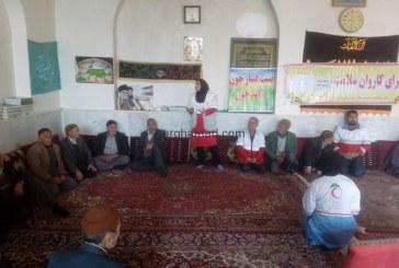 تست فشار خون و قند خون رایگان توسط مسولین هلال احمر شهرستان جوین در مسجد علی بن ابی طالب(ع) روستای برغمد