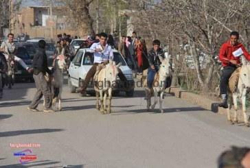 مسابقه الاغ سواری روستای برغمد سال ۹۳